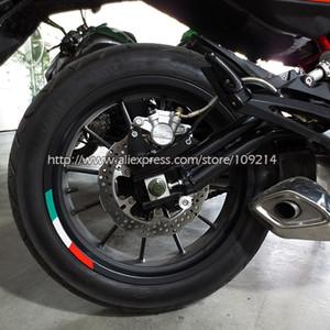 Per la Ducati Aprilia MV Agusta Benelli Vespa Italia rotella del motore del motociclo della bici adesivo riflettente Rim banda Adatto