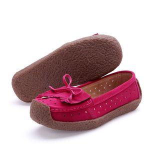 2019 New Outono Mulheres Casual Suede couro Mulher Flats Shoes ocas Shoes Oxfords para as Mulheres Moccasins Senhoras sapatos