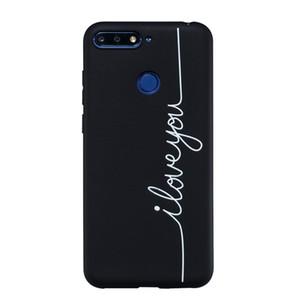 Funda Coque Fundas Para Huawei Honor 7A / Y6 Prime 2018 Funda Negro Suave TPU Mate Movimientos simples de personalidad Caja del teléfono móvil