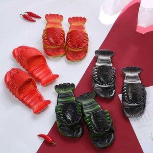 Kadınlar Ayakkabı Yaz Istakoz Sandalet 2020 Yeni Kaymaz Plaj Aile Komik Istakoz Terlik