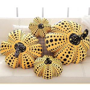 Moderna Yayoi Kusama punto dell'onda di simulazione della zucca della peluche Cuscino creativo Ufficio Pausa pranzo cuscino peluche