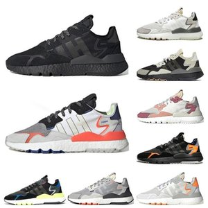 2019 Hot nite jogger 3m reflective men running shoes for women triple black white outdoor mens trainers sports sneakers
