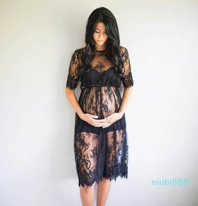 Summer Dress Lace Pregnant Women Dresses Fancy Maternity Photo Shooting