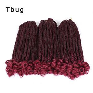 6packs 12Inch 20Roots Wellig Senegalese Twist Curly Wevy Crochet Haar Borten Curly Havana Mambo Wellenförmige Ends Synthetic Hair Extensions Twist