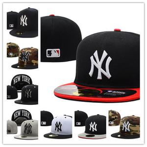 2020 gorras de béisbol diseñador de sombreros NY completa cerrada sombrero cabido equipo Embroiered NY aficionados logotipo del béisbol sombrero de calidad superior clásica