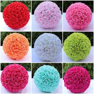 زهرة الاصطناعي الزفاف روز الكرة الكرة 6 بوصة 8 بوصة للديكور زفاف حديقة السوق وهمية الحرير شنقا زهرة الكرة