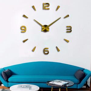 JINGMENG 3D Wall Stickers Creative Fashion Living Room Clocks Large Wall Clock DIY Home Decoration Acrylic + EVA Wall Watch