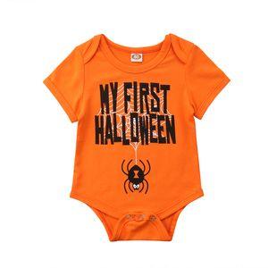 MY FIRST هالوين طفل رضيع فتاة BODYSUIT القطن الزي Babygrow ملابس للأطفال ملابس الطفل 0-18M
