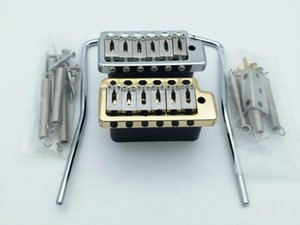 Rare Wilkinson Wvp6 Gold Chrome Tremolo Guitar Bridge Stainless Steel Saddles