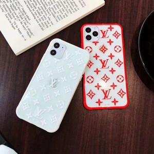 Cuero de lujo de la caja del teléfono para el iPhone X XR XS Max TPU + PC de impresión en 3D Transparente teléfono de la cubierta para el iPhone 7 8 Plus A06