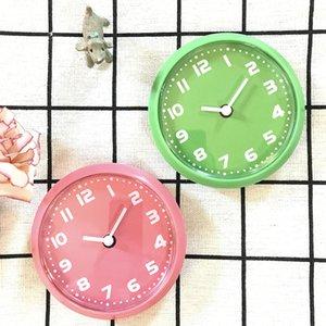 Small Digital Kitchen Fridge Magnet Wall Clocks In Simple Quartz Clocks By Blue Green Pink White Color