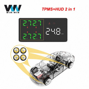 HUD V612 Head Up Display + TPMS 2in1 voiture OBD OBD2 affichage HUD V612 Ordinateur de bord voiture Compteur de vitesse Headup GYn4 #
