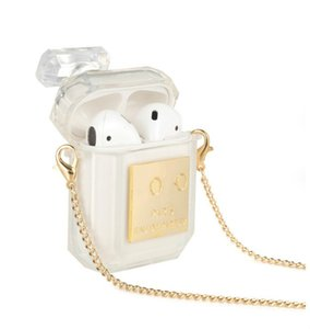 Moda Airpods caso botella de perfume cubierta del auricular adecuado para airpods1/2/3pro cubierta protectora inalámbrica Bluetooth auricular cadena shell3