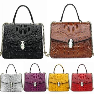 Free Shipping! Newest Style Classic Fashion Designer Bags Women Crocodile Shoulder Bag Bag Bags Lady Small Chains Geometric Crocodile Sho#492