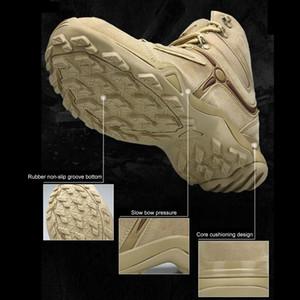 أحذية الرجال TENNEIGHT التكتيكية الحذاء العسكري تنفس السامي الأعلى الصحراء الأحذية القتالية SWAT العمل ارتداء-resistan أحذية المشي لمسافات طويلة