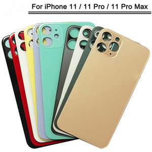 50Pcs Back Glass with big hole For iPhone 11 Back housing for iphone 11 pro max battery Cover Rear Door Case Replacement