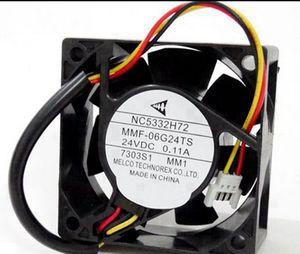 MMF-06G24TS MM1 미쓰비시 서보 인버터 냉각 팬 NC5332H72 6025 24V 0.11A 2.52W 4850RPM 24CFM 60 * 60 * 25MM 3 행 3 핀