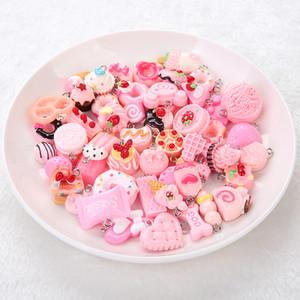 Jóias Acessórios 50pcs pingente de alimentos colar de encantos colar para DIY brinco decoração mulher jóia chaveiro