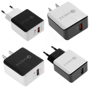 QC 3.0 Fast Wall Charger USB Direct Chargers 5V3A 9V2A Travel Power Adapter Fast Charging US EUPlug for iPhone Samsung Huawei Phone