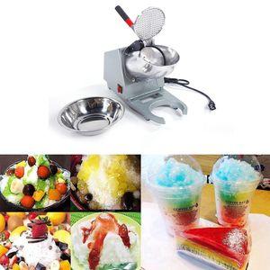 143LBS Máquina trituradora de hielo eléctrica Máquina de afeitar Máquina para hacer conos de nieve Hielo raspado 300W