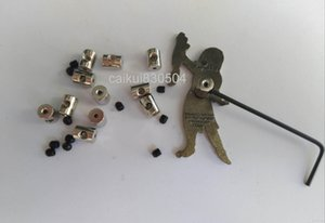 7mm length brass Locking pin keepers pin backs savers holder with Allen Wrench for Biker Military Sports Police Biker Scouts Hat