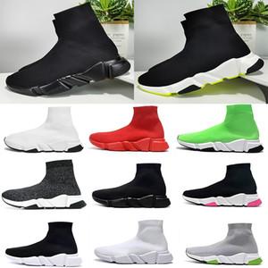 2020 Bleu Chaussette Chaussures Hommes et femmes Chaussures Casual Vitesse Chaussettes Course Partants Slip-on Chaussures unisexe noir sans boîte Sneakers Livraison gratuite