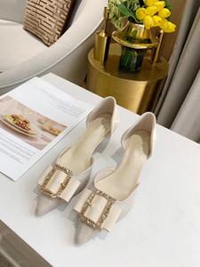 Новые модные высококачественные женские свадебные туфли с острым носком. высокие каблуки Туфли на тонком каблуке насосы из натуральной кожи 3,5 см
