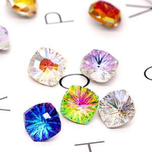 Высокое качество Стразы площади K9 стекла AB Цвет Необычные камни Pointback 8мм клей на ногтях Strass кристаллы Камень Стекло Strass DIY украшения