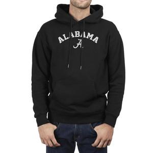 هوديس الرجال قديم الأزياء كلية خمر ألاباما كرة القدم الأمريكية الصوف البلوز فريق الأسود الطباعة فرقة ألاباما قرمزي المد شعار Pdqj