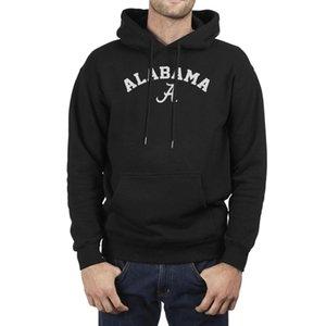 Crimson Men American Tide Team Team Logo Football Black Alabama البلوز الفرقة القديمة خمر هوديس ألاباما الأزياء الصوف الطباعة euok