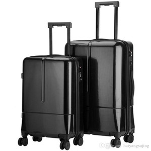 High quanlity PC suitcase luggage women mens travel trolley box suitcases rolling Business computer bag Silent universal wheel Baggage