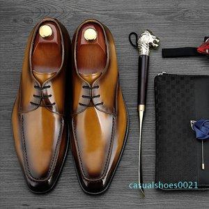 MYCOLEN 2018 Luxury Fashion Men Shoes Minimalist Design Casual Derby Shoes For Men Pointed Toe Dress Wedding c21