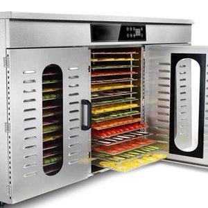 80 Schicht kommerzielle Fruchttrockner Edelstahl Gemüsetrocknungsmaschine pflanzliche Lebensmittel Dehydratoren sichere Lufttrockner