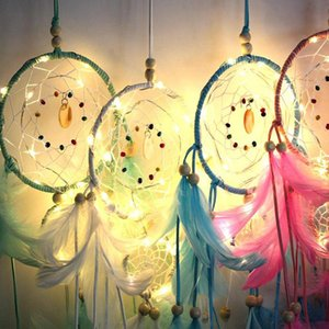 Brilho LED Dream Catcher Quarto pequeno Night Light Sitting Room Birthday Party Decoration presente Boy Girl Fashion Brinquedos WY373Q