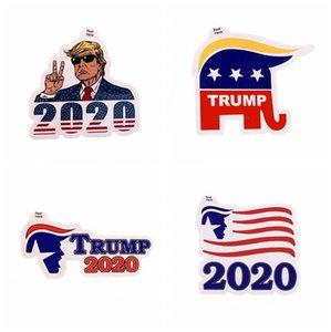 도널드 트럼프 재미 스티커 트럼프 2020 접착 스티커 장식 범퍼 스티커 창 도어 냉장고 노트북 자동차 스티커 LJJA4071