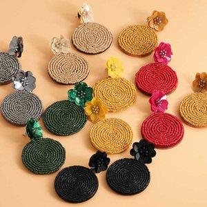2020 Trendy-Korn-Blumen-Tropfen-Ohrringe für Frauen-Mädchen-handgemachte großes baumeln Statements Ohrringe Hochzeit Schmuck Großhandel Partei