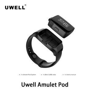 Uwell Amulet Pod 370mAh 2 ml Innovative Watch-Stil Pod-System Kit Pro-FOCS Flavor Prüftechnik No-Tasten-Design-drehender Schirm