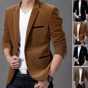 M-3XL 4 cores New Men Casual chique Blazer Slim Fit Formal One Button Suit Blazer revestimento do revestimento Outwear Tops