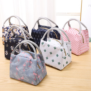 Portable Flamingo Lunch Bag Cooler Bag Thermal Insulation Bags Travel Picnic Food Lunch box bag for Women Girls Kids Adults BFJ577