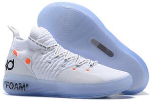2019 Yeni KD 11 EP Beyaz Turuncu Köpük Pembe Paranoid Oreo ICE Açık Ayakkabı Kevin Durant XI KD11 Mens Eğitmenler Sneakers Size40-46
