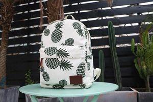 New School Bolsas Mulheres Student Canvas Abacaxi Impresso grande capacidade mochila de viagem sacos de armazenamento