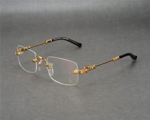DOWER ME aro Moda Novos Negócios Design Os homens Gold Silver Limpar Lens Miopia Óculos de leitura Óculos JLS