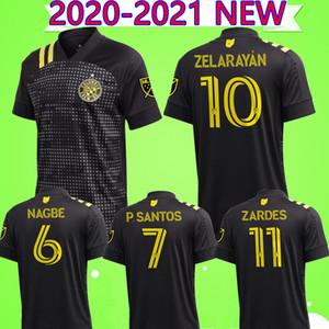 Colorado Rapids 2020 2021 كولومبوس لكرة القدم بالقميص الأسود Zardes Nagbe بيدرو سانتوس Zelarayan MLS قمصان رجالي لكرة القدم السوداء 20 21 الزي الرسمي