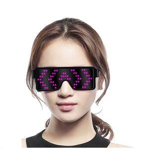 11 Modes Quick Flash Neon Led Glasses USB Charge Luminous Glasses Christmas Concert Light Toys H4754