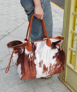 Cow Suede en gros Imprimé Sac à grande capacité de Weekender Sac vache Cacher Sac bandoulière en cuir PU sac à main sacs fourre-tout DOM-1081431