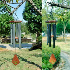 18 인치 윈드 차임 어메이징 그레이스 바람 차임 벨 (6 개) 금속 튜브 바람 차임 홈 장식 공예품 선물