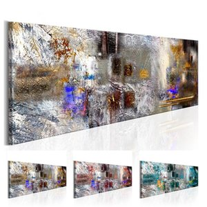 Abstract Watercolor Texture Oil Painting on Canvas Home Decor Wall Art Canvas Print Art Decor Watercolor Landscape Multicolor