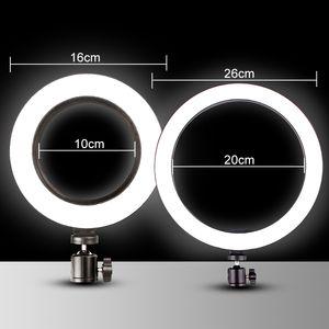 4in1 26 centimetri 20 centimetri selfie Light Ring con il supporto della macchina fotografica del telefono Fotografia di illuminazione con telecomando per Foto Video con treppiede