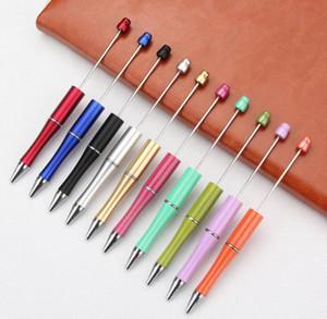 mischen Farbe hinzufügen, ein Perlen Werbe Kinder spielen Weihnachtsgeschenke Kreative DIY billige Plastik Beadable Stifte Perle Kugelschreiber GD164 Kugelschreiber