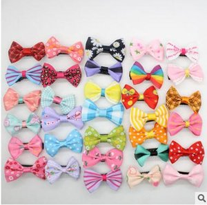 200pc lot Big sale dog hair bows pet dog grooming bows Pet hair clips hairpin teddy exquisite hair accessory Pet clips DJ101